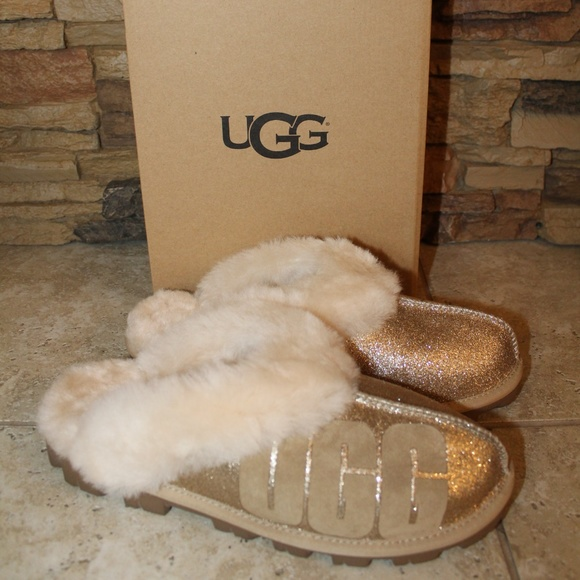 2523e3c43916 UGG Shoes   Coquette Sparkle Shearling Slippers New   Poshmark